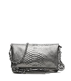 MICHAEL Michael Kors® Corinne Medium Metallic Python Messenger