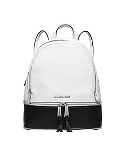 MICHAEL Michael Kors® Rhea Zip Medium Bi-Color Leather Backpack