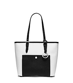 MICHAEL Michael Kors® Jet Set Bi-Color Leather Pocket Tote