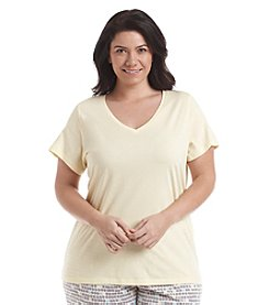 HUE® V-Neck Lounge Top