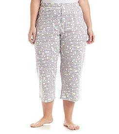 HUE® Plus Size Printed Pajama Capris