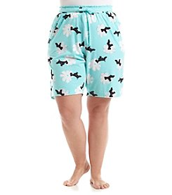 HUE® Plus Size Printed Pajama Shorts