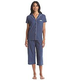 KN Karen Neuburger Printed Cropped Pajama Set