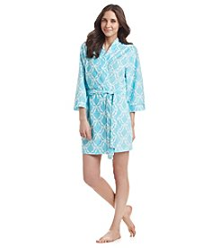 Jasmine Rose® Printed Terry Cloth Robe