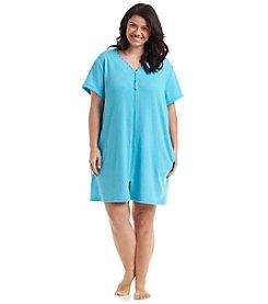 Jasmine Rose® Plus Size Waffle Textured Robe