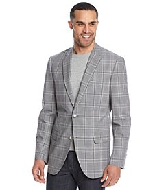 John Bartlett Statements Men's Large Plaid Cotton Sport Coat