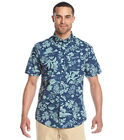 John Bartlett Consensus Men's Short Sleeve Printed Button Down Shirt