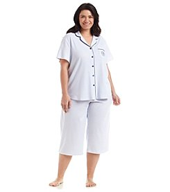 KN Karen Neuburger Plus Size Printed Cropped Pajama Set