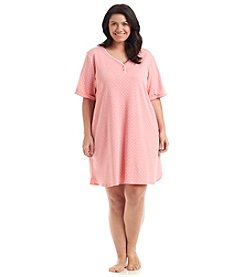 KN Karen Neuburger Plus Size Henley Nightgown