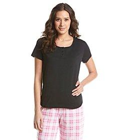 KN Karen Neuburger Henley Pajama T Shirt