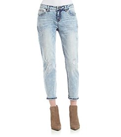 Celebrity Pink Destructed Acid Wash Jeans