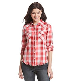 Hippie Laundry Frayed Plaid Shirt