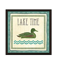 Greenleaf Art Lake Time Framed Canvas Art