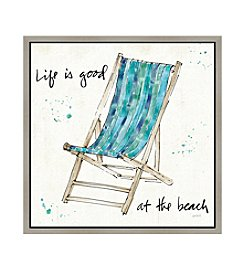 Greenleaf Art Life is Good Chair Framed Canvas Art