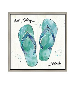 Greenleaf Art Sandals Framed Canvas Art