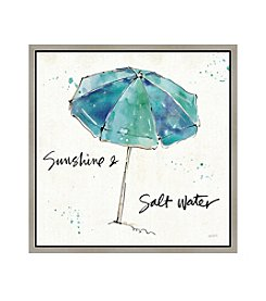 Greenleaf Art Beach Umbrella Framed Canvas Art