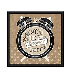 Greenleaf Art Snooze Button Framed Canvas Art
