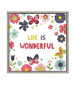 Greenleaf Art Life is Wonderful Framed Canvas Art