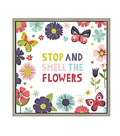 Greenleaf Art Smell the Flowers Framed Canvas Art