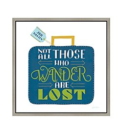 Greenleaf Art Those who Wander Framed Canvas Art