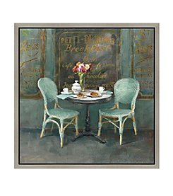 Greenleaf Art Vintage Store Breakfast Table Framed Canvas Art
