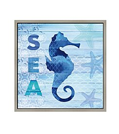 Greenleaf Art Sea Horse Framed Canvas Art