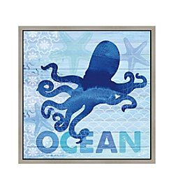 Greenleaf Art Ocean Octopus Framed Canvas Art