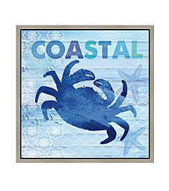 Greenleaf Art Coastal Crab Framed Canvas Art