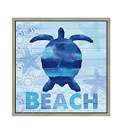 Greenleaf Art Beach Turtle Framed Canvas Art