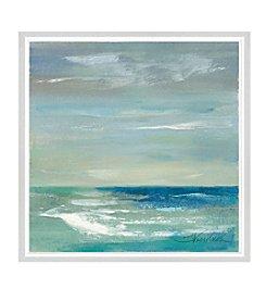 Greenleaf Art Blues of the Horizont I Framed Canvas Art