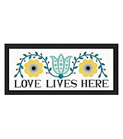 Greenleaf Art Love Lives Here Framed Canvas Art