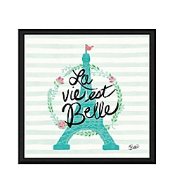 Greenleaf Art La Vie Est Belle Framed Canvas Art