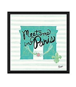 Greenleaf Art Meet Me In Paris Framed Canvas Art