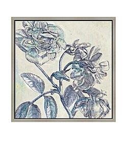 Greenleaf Art  Blue Flowers I Framed Canvas Art