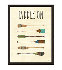 Greenleaf Art Paddle On Framed Canvas Art