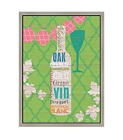 Greenleaf Art Wine on Olive Framed Canvas Art
