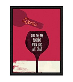 Greenleaf Art Wine Sunshine Framed Canvas Art