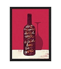 Greenleaf Art Bottle of Wine Framed Canvas Art