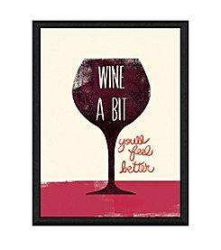 Greenleaf Art Wine a Bit Framed Canvas Art