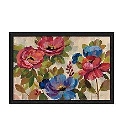 Greenleaf Art Pink and Blue Flowers Framed Canvas Art