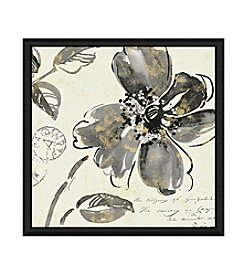 Greenleaf Art Black Flowers I Framed Canvas Art
