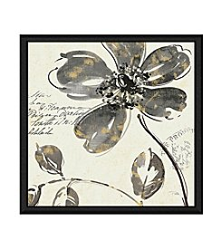 Greenleaf Art Black Flowers II Framed Canvas Art