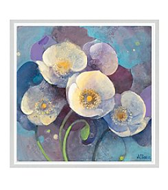 Greenleaf Art Whites on Purple Framed Canvas Art