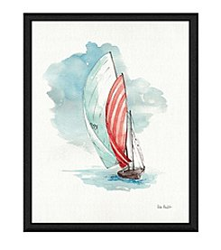 Greenleaf Art Boat View I Framed Canvas Art