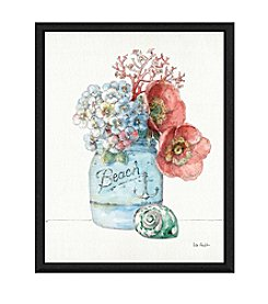 Greenleaf Art Beach Flowers Framed Canvas Art