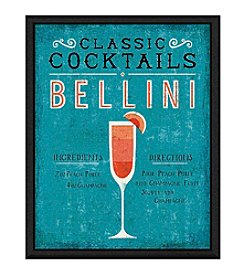 Greenleaf Art Bellini Cocktail Framed Canvas Art