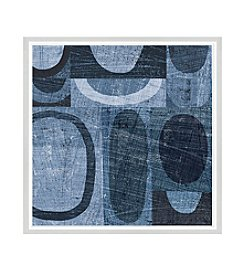 Greenleaf Art Blue Abstract I Framed Canvas Art