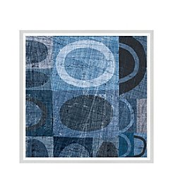 Greenleaf Art Blue Abstract II Framed Canvas Art