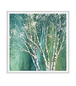 Greenleaf Art Blue Birch Tree Framed Canvas Art