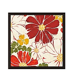 Greenleaf Art Red Flower Framed Canvas Art
